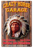 Crazy Horse Garage 12x18 sign