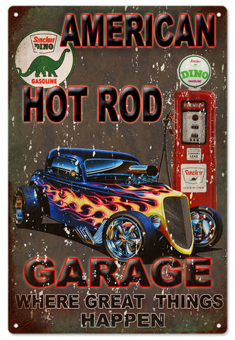 American Hot Rod Garage Sign 16x24