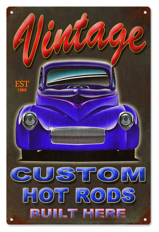 Vintage Custom Hot Rod Sign 16x24