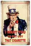 Uncle Sam Wants you wants you to put out that cigarette