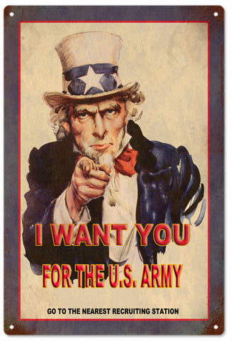 Uncle Sam wants you for the US Army
