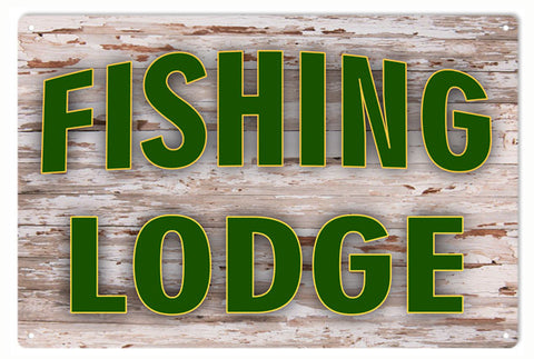 Fishing Lodge Sign