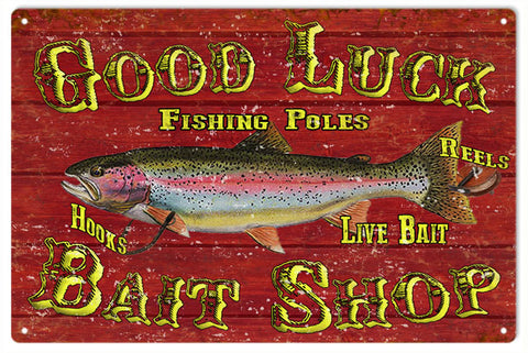 Good Luck Bait Shop Sign