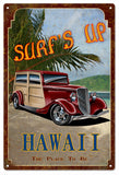 Surfs Up Hawaii Sign with Woody 12x18