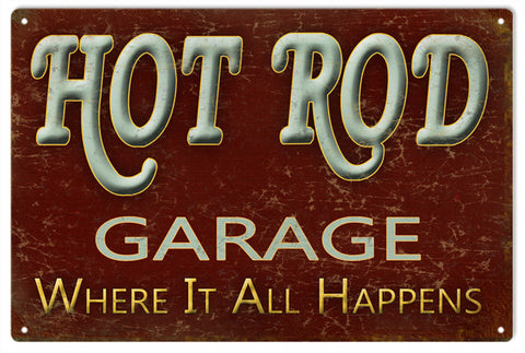 Hot Rod Garage Sign 16x24