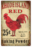Rhode Island Red Baking Powder Sign