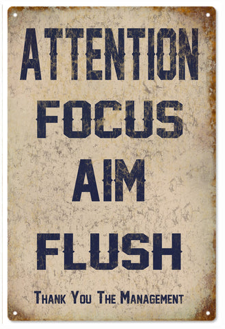 Attention Focus Aim Flush Sign