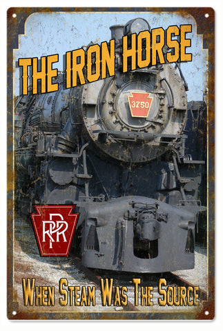 The Iron Horse RPR Railroad Sign 16x24