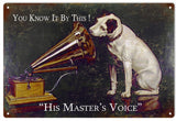 His Masters Voice Dog Sign