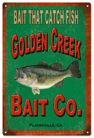 Golden Creek Bait Co.Fishermans Sign