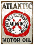 Vintage Atlantic Motor Oils Sign 9x12
