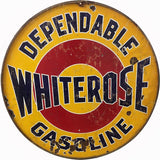 Vintage Whiterose Gasoline Sign 14 Round