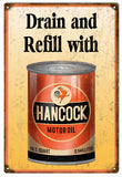 Vintage Hancock Motor Oil Sign