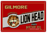 Gilmore Lion Head Motor Oil Sign