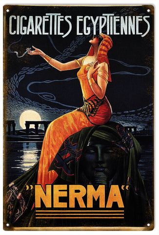 Vintage Nerma Cigarettes Sign