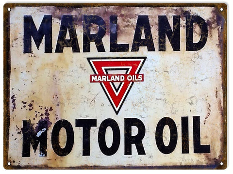 Vintage Maryland Motor Oil Sign 9x12