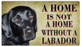 Vintage Labrador Dog Sign 8x14