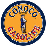 Conoco Gasoline Gas Station Sign 14 Round