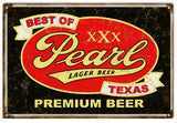 Vintage Pearl Premium Beer Sign