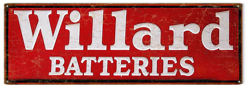 Vintage Willard Battery Sign 6x18