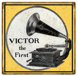 Vintage Victrola Phonograph Sign 12x12