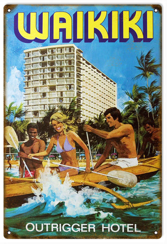 Vintage Waikiki Outrigger Sign