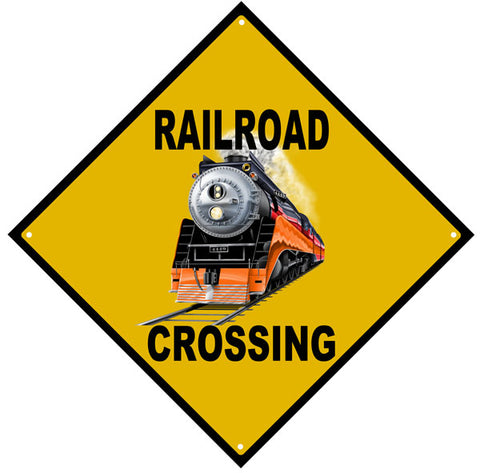 Railroad Crossing Daylight Engine Sign