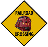 Railroad Crossing Sign RPR Engine 8090