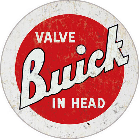 Vintage Buick Sign 14 Round