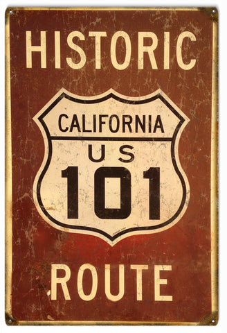 Vintage California US 101 Route Sign
