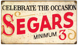 Vintage Segars Cigar Sign 8x14