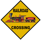 Railroad Crossing Sign With Baldwin 440