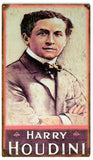 Vintage Harry Houdini Magician Sign 8x14