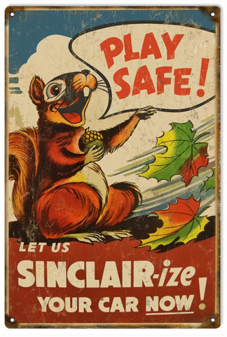 Vintage Sinclair Motor Oil Sign
