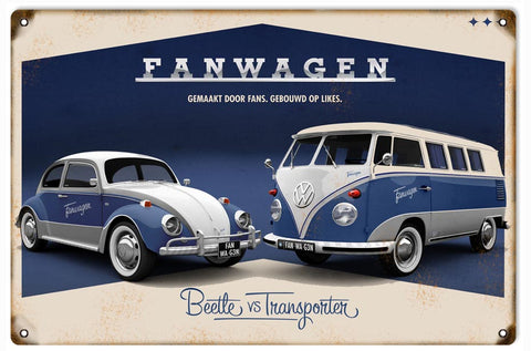 Vintage VW Fanwagon Sign