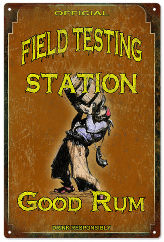 Field Testing Station Rum Bar Sign