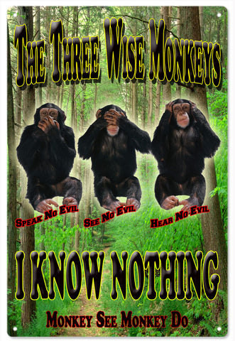 The Three Wise Monkeys Sign