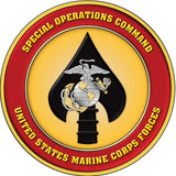 Special Operations Command US Marine Corps Forces Round Cut Out Sign