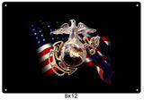 US Marine Sign 8x12
