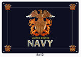 United State Navy Sign 8x12