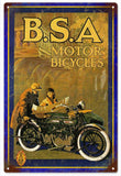 Vintage B.S.A. Motor Bicycle Sign