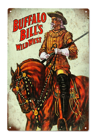 Buffalo Bills Wild West Circus Sign