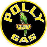 Polly Gas Station Sign 14 Round