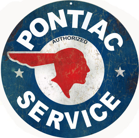 Pontiac Service Station Sign Round 14
