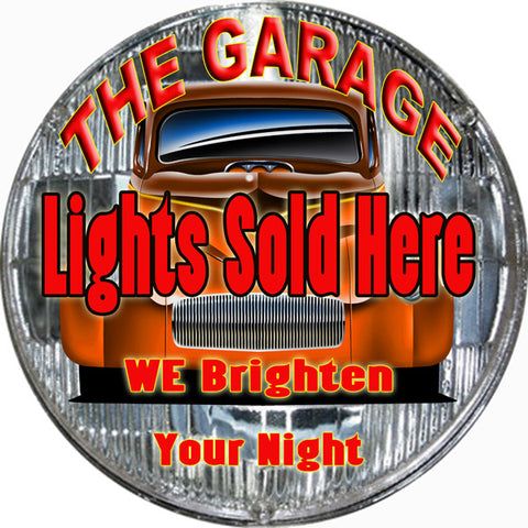 The garage Lights Sold Here Sign Round 14