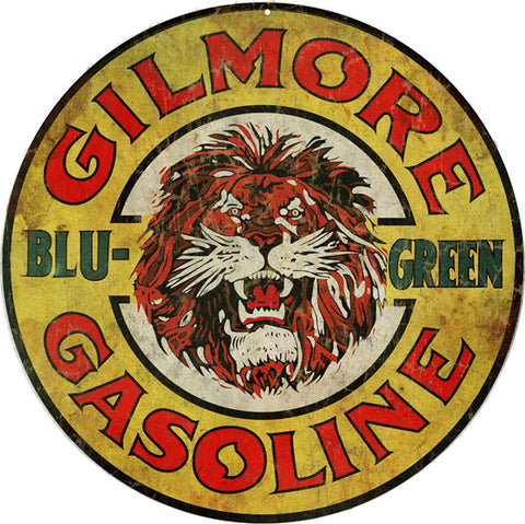 Gilmore Blu Green Gasoline Sign Round 14