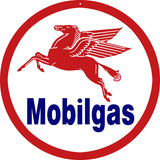 Mobilgas Gasoline Sign Round 14