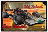 Vintage Old School New School Hot Rod Sign 16x24