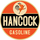 Hancock Gasoline Sign 18 Round