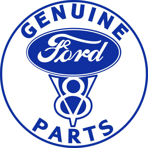Genuine Ford V8 Parts Hot Rod Sign 18 Round
